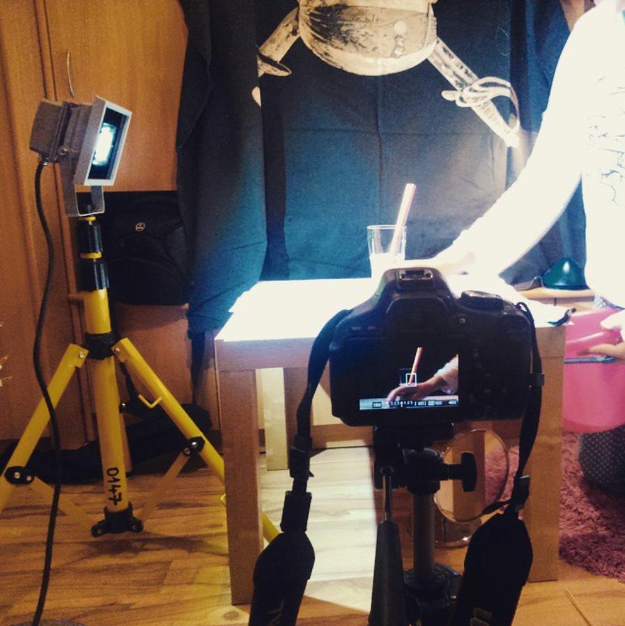 fotografování v domácím studiu